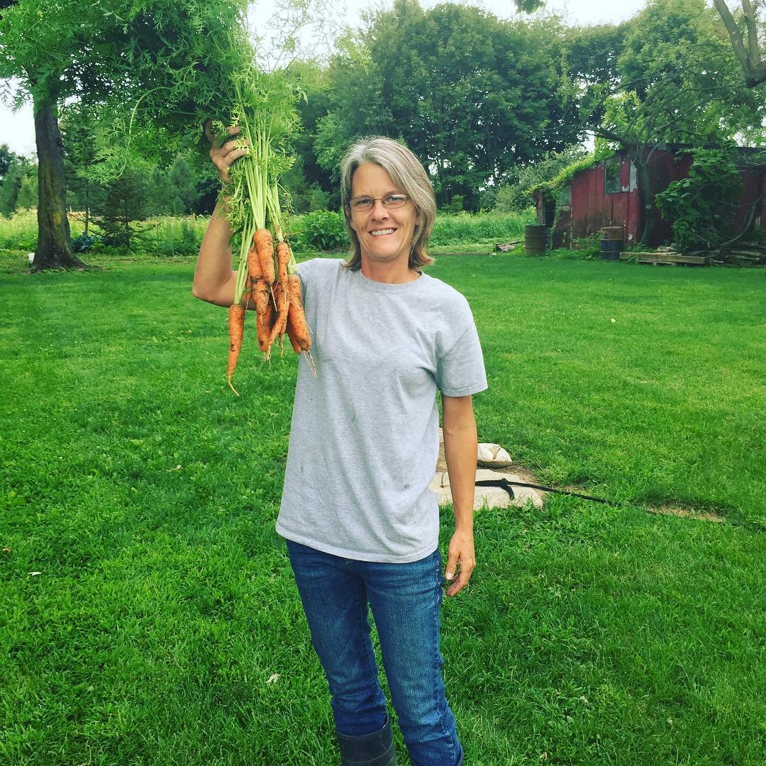 Carrots are gorgeous. That was only a few I picked for dinner😍